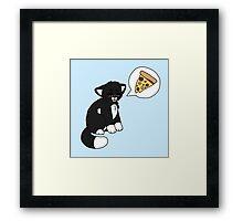 Tuxedo Pizzacat Framed Print