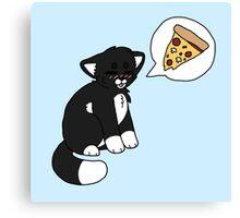 Tuxedo Pizzacat Canvas Print