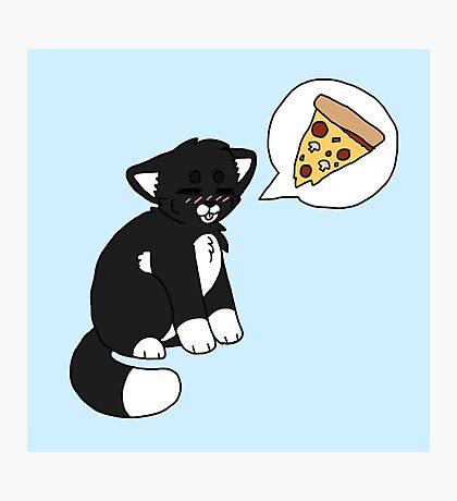 Tuxedo Pizzacat Photographic Print