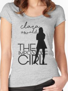The Impossible Girl- Clara Oswald Women's Fitted Scoop T-Shirt