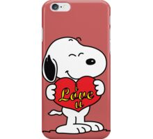 love you snoopy love iPhone Case/Skin