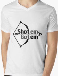 shot em Mens V-Neck T-Shirt