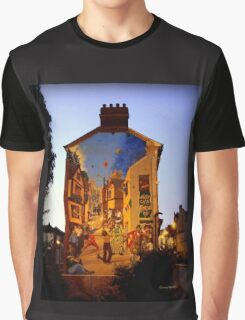 Festive Mural Graphic T-Shirt