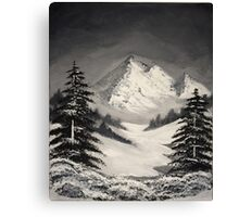 Snowy Mountain  Canvas Print