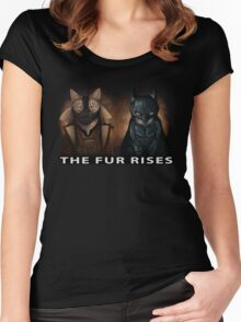 The Fur Rises Women's Fitted Scoop T-Shirt