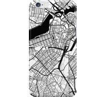 Boston Map - Black Inverted iPhone Case/Skin