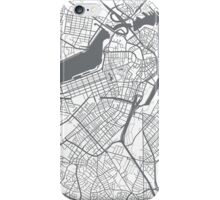 Boston Map - Grey Inverted iPhone Case/Skin