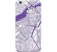 Boston Map - Purple Inverted iPhone Case/Skin