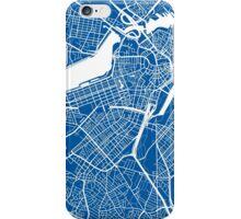 Boston Map - Deep Blue iPhone Case/Skin