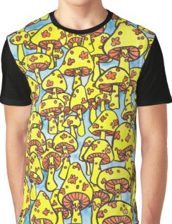 retro yellow mushrooms Graphic T-Shirt