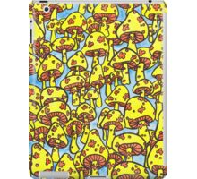 retro yellow mushrooms iPad Case/Skin