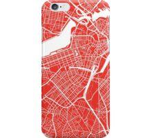 Boston Map - Red iPhone Case/Skin