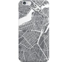 Boston Map - Grey iPhone Case/Skin