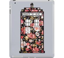 Floral TARDIS 2 iPad Case/Skin