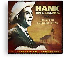 Hank Williams  Sr. Album Canvas Print