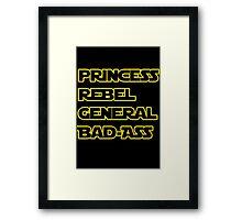 Princess Leia: A Summary Framed Print