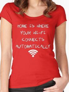 Wi-Fi Shirt Women's Fitted Scoop T-Shirt