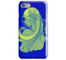 Blue and Yellow Glamor Girl Drawing iPhone Case/Skin