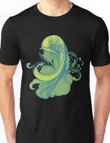 Blue and Yellow Glamor Girl Drawing Unisex T-Shirt