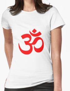 ॐ Om Shanti Om Symbol Hinduism Yoga Namaste Indian Peace Aum Namah Shivaya Womens Fitted T-Shirt