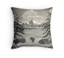 Untouched Mountain Throw Pillow
