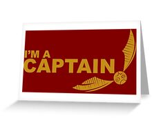 I'm a Captain - Yellow ink Greeting Card