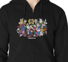 Undertale - All characters Zipped Hoodie