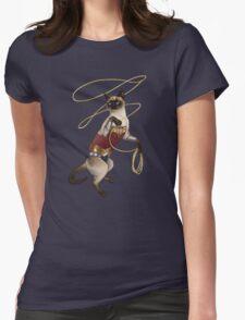 Wonder Cat Womens Fitted T-Shirt