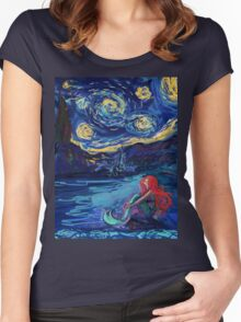 Starry Starry Night meets Mermaid Women's Fitted Scoop T-Shirt