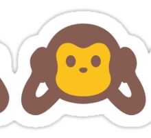 3 Wise Monkey Sticker