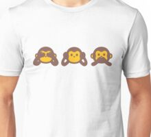 3 Wise Monkey Unisex T-Shirt