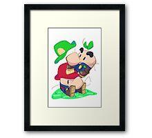 Super Saturn Bros. Framed Print