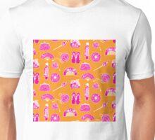 Kimono Girl - Pink & Orange Unisex T-Shirt