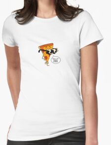 Don't Eat Pizza Steve Womens Fitted T-Shirt