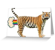 Giant Realistic Flying Tiger Greeting Card