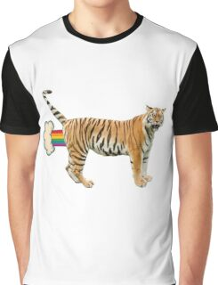 Giant Realistic Flying Tiger Graphic T-Shirt