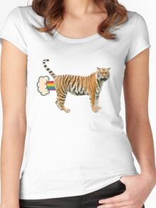 Giant Realistic Flying Tiger Women's Fitted Scoop T-Shirt