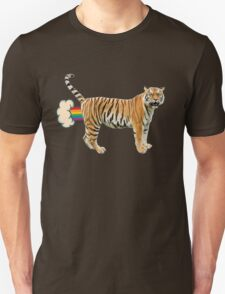 Giant Realistic Flying Tiger Unisex T-Shirt