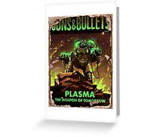 Guns and Bullets (Plasma) Greeting Card