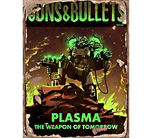 Guns and Bullets (Plasma) Photographic Print