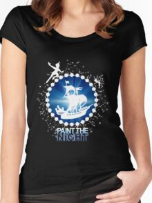 Paint the Night - Second Star to the Right Women's Fitted Scoop T-Shirt