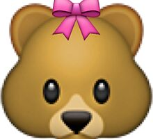 Teddy Bear w/ Bow Emoji Sticker by Pink Blood