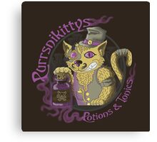Purrsnikittys Potions and Tonics Canvas Print