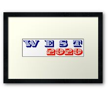 WEST 2020 Framed Print