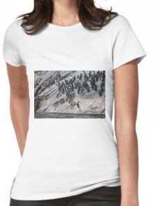 The Penguin Slide Womens Fitted T-Shirt