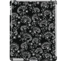 White in Black Pattern iPad Case/Skin
