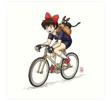Kiki's Bike Messenger Service Art Print