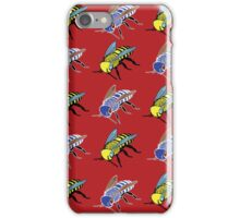 'Bees in red' design my LUCILLE iPhone Case/Skin