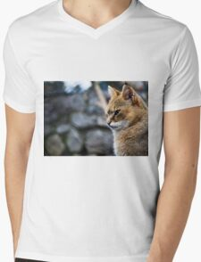 Wild cat Mens V-Neck T-Shirt