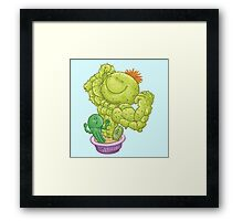 Strong Cactus Framed Print